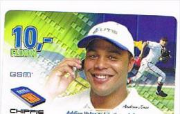 CURACAO -  UTS / CHIPPIE (GSM RECHARGE) -  SPORT: BASEBALL (ANDREW JONES) 10     -  USED  -  RIF. 7968 - Antilles (Netherlands)