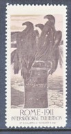 ITALY   VIGNETTE   INTERNATIONAL  EXPO.  ROME  1911   * - Publicity