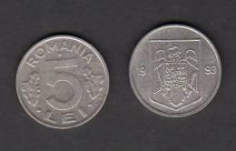 5 LEI 1993 / Circulated - Rumänien