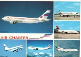 C P M-----AVIATION-----flotte Utilisée Par AIR CHARTER,filiale D´AIR FRANCE ET D´AIR INTER---voir 2 Scans - 1946-....: Moderne