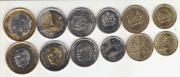MAROKKO ,UNC Coins Set 6 Pcs...bimetal 2X,2011-12 - Morocco