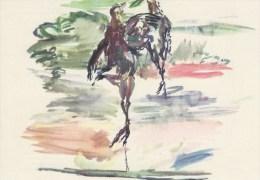 AK154 Künstlerkarte Oskar Kokoschka, Grouse 1942 - Kokoschka
