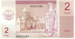NAGORNO KARABAKH 2 DRAM PINK CHURCH MAN STATUE FRONT JOHN THE BAPTIST BACK DATED 2004 P? AUNC  READ DESCRIPTION !! - Nagorny Karabach