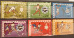 05 COOK ISLANDS Noumea 1966 Sc 175-80 Mi 129-33 Pacific Games Sports - Tennis, Football, Boxing - MNH - Cook Islands