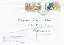 Mauritius Maurice 1998 Vacoas A Boat Making Rock Geology Domestic Registered Cover - Mauritius (1968-...)