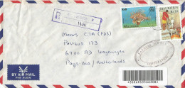 Mauritius Maurice 2002 St Pierre B Fish Oil Extraction Barcoded Registered Cover - Mauritius (1968-...)