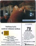 Telefonkarte Slowakei - Höhle,cave,grotte - Dobsinska Ladova Jaskyna - Aufl. 100000 - 11/97 - Slowakei