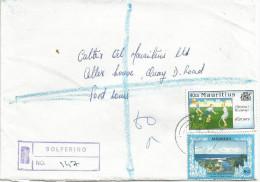 Mauritius Maurice 1995 Solferino Children Painting Games Estuary Domestic Registered Cover - Mauritius (1968-...)