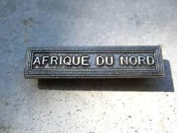 INSIGNE AGRAFE AFN AFRIQUE DU NORD EN ACIER POUR MEDAILLES PENDANTES EXCELLENT ETAT