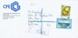 Mauritius Maurice 1997 Quatre Bornes B Estuary Vavang Fruit Registered Domestic Cover - Mauritius (1968-...)