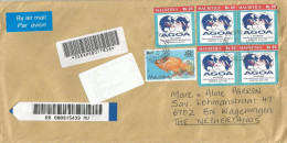Mauritius Maurice 2003 Port Louis Centre AGOA Trade Agreement Fish Barcoded Registered Cover - Mauritius (1968-...)