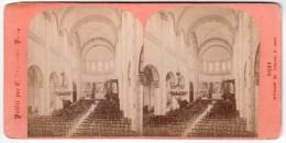 Photo Stéréoscopique - Vichy - Intérieur De L'Eglise Saint-Louis - Photographie