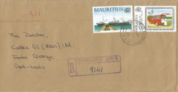 Mauritius Maurice 1997 Port Louis GPO B Harbour Ship Loading Mobile Post Office Domestic Registered Cover - Mauritius (1968-...)