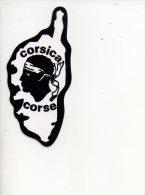 REF 3  : Autocollant Publicitaire Sticker CORSE Contour CORSICA - Pegatinas