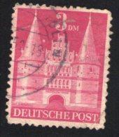 Allemagne 1948 Oblitéré Rond Used Stamp Porte De La Vieille Ville Lübeck Holstentor - Zone Anglo-Américaine