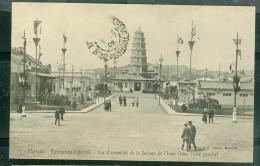 N°3 - MARSEILLE EXPOSITION COLONIALE VUE D'ENSEMBLE DE LA SECTION DE L'INDO CHINE -  LFL19 - Exposiciones Coloniales 1906 - 1922