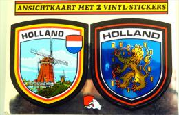 Pays Bas Hollande Holland Carte Postale Avec 2 Autocollants Adhésifs - Ansichtkaart Met 2 Vinyl Stickers - Unclassified