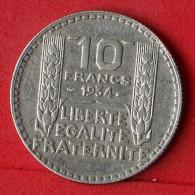 FRANCE  10  FRANCS  1934  SILVER COIN KM# 878  -    (Nº07083) - France