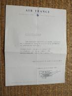 DOCUMENT - AIR FRANCE - ATTESTATION DE VOL - TOULOUSE/PARIS/BANGKOK/VIENTIANE - 1965 - Flight Certificates