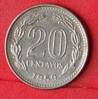 ARGENTINA  20  CENTAVOS  1959   KM# 55  -    (Nº07124) - Argentina