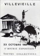 VILLEVIEILLE(Gard)  - 23 Octobre 1994 - Manif Reportée Au 19 Février 1995 ( Inondations) (68062) - Monnaies (représentations)