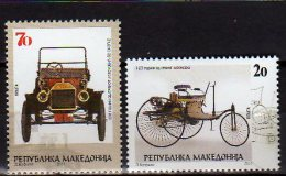 2011 Macedonia - 100 Years Of The First Auto In MAcedonia - Set Of 2 V - Paper - MNH** - Macedonië