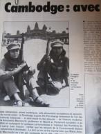 6 Pages Du Nouvel Observateur Septembre 1981 : Cambodge, Avec Les Rescapés Du Génocide Par M.A. Macciocchi (Le Dossier - Politik
