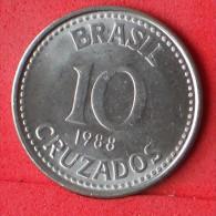 BRAZIL  10  CRUZADOS  1988   KM# 607  -    (Nº07132) - Brésil