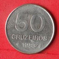 BRAZIL  50  CRUZEIROS  1983   KM# 594,1  -    (Nº07133) - Brasilien