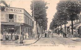 """¤¤  -  VITRY-sur-SEINE  -  L'Avenue Du Chemin De Fer  -  Café """" Au Bon Coin """"  -  ¤¤ - Vitry Sur Seine"""
