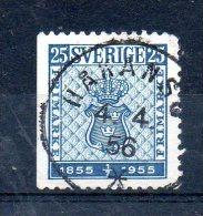 SUEDE. N°395a De 1955 (oblitéré). Timbre Sur Timbre. - Stamps On Stamps