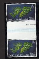 """Falkland - """"Carte. Reconstruction""""   Neufs** - Géorgie Du Sud"""
