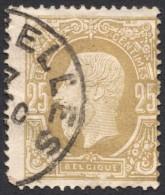 Belgium,  25 C. 1875, Sc # 37, Mi # 29, Used. - 1869-1883 Leopold II