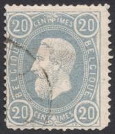 Belgium,  20 C. 1870, Sc # 33, Mi # 28, Used. - 1869-1883 Leopold II