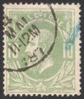 Belgium,  10 C. 1869, Sc # 32, Mi # 27, Used. - 1869-1883 Leopold II