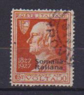 COLONIE ITALIANE  SOMALIA 1927 A.VOLTA SASS. 110  USATO VF - Somalia
