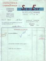 LOIRE - SAINT ETIENNE - IMPRIMERIE ET CARTONNAGE DU SUD EST - LITHOGRAPHIE - TYPOGRAPHIE - 1959 - Imprimerie & Papeterie