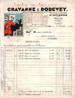 LOIRE - SAINT ETIENNE - IMPRIMERIE - IMPRESSIONS TYPO - LITHO - OFFSET - CHAVANNE & DODEVEY - 1958 - Imprimerie & Papeterie