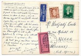 NORVEGE-FRANCE-ALGERIE @ 2 CPM EXPRÈS Pour Algérie, 1953, Cad Paris Aviation Intérieur Et PLM AVION D Et ALGER RP - Norvège