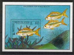 BRITISH VIRGIN ISLANDS S/S 1990 MNH** - Fische