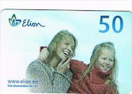 ESTONIA -  ELION (CHIP) - 2005 MOTHER AND DAUGHTER ISSUE 5.05   - USED°  -  RIF. 8011 - Estonia