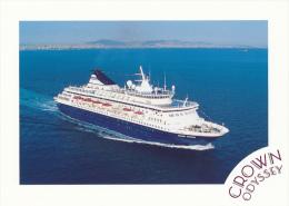 CROWN ODYSSEY - ORIENT LINES - The Elegant Crown Odyssey At Sea - Excellent - Piroscafi