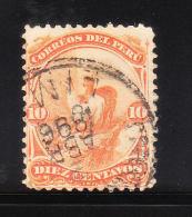 Peru 1866-67 Llamas 10c Used - Peru