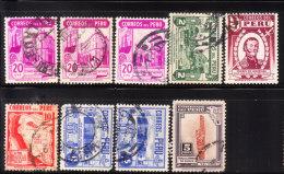 Peru 1938 Scenery 9v Used - Peru