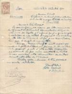 TIMBRE FISCAL SUR DOCUMENT DE PHOM-PENH DU 28/07/22 - Lettres & Documents