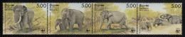 Sri Lanka MNH Scott #803 Strip Of 4 Elephants - World Wildlife Fund - Sri Lanka (Ceylan) (1948-...)