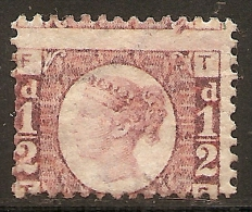 Grande-Bretagne (GB) Victoria 1870 - 0.5d Bantam Pl.13 TF Neuf (MH) - SG#49; Sc#58 Cote 100$ - Unused Stamps