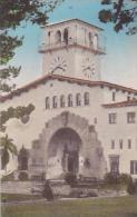 California Santa Barbara County Court House Handcolored Albertype