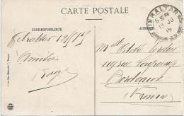 Gibraltar 1915 French Navy Marine On Passage Unfranked Viewcard. Rare - Gibraltar