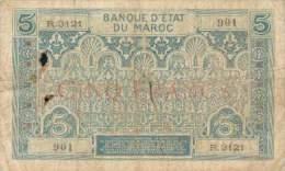T MAROC MOROCCO MAROKKO BILLET 5F NON DATE (1931) N° N.3121 ETAT MOYEN - Marruecos